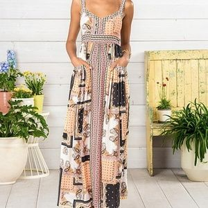 Matilda Jane Dresses - NEW Matilda Jane patchwork print maxi dress sz L